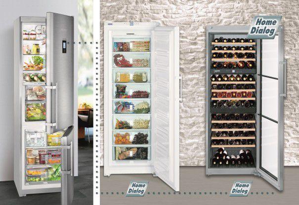 Über ein als Zubehör erhältliches PLC-Modul und HomeDialog lassen sich bis zu sechs Kühlgeräte von Liebherr durch ein zentrales Mastergerät steuern.