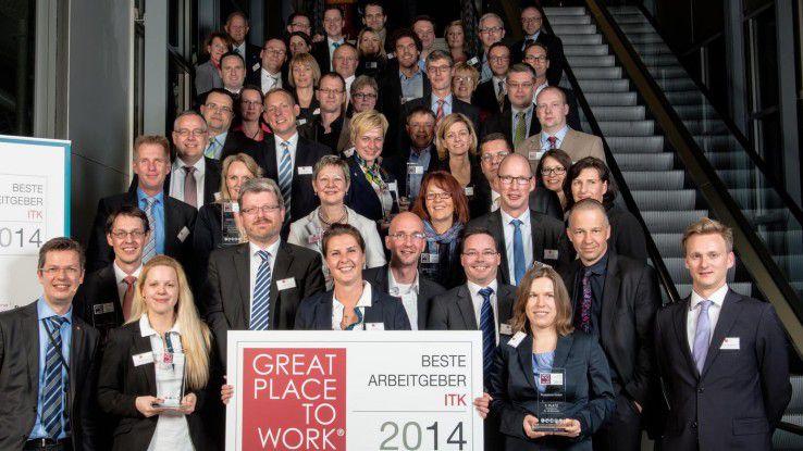 Die besten ITK-Arbeitgeber zeichnete das Great Place to Work Institute und die COMPUTERWOCHE auf der CeBIT aus.
