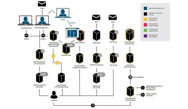 Über Backdoors und ausgeklügelte Skripte bemächtigen sich die Angreifer der Server und verschicken Spam, leiten Web-Traffic um oder stehlen Nutzerdaten.