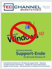 80 Seiten geballte Information zum Thema Windows XP-Support: die aktuelle TecChannel-Studie.
