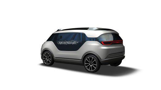 """Die Groupe Akka Technologies und MBtech haben zusammen dieses """"Link & Go""""-Konzeptfahrzeug entwickelt, das elektrisch fährt, selbst lenken und über Social Media auch zum Mitfahren oder neudeutsch """"Teilen"""" des Automobils einladen kann."""