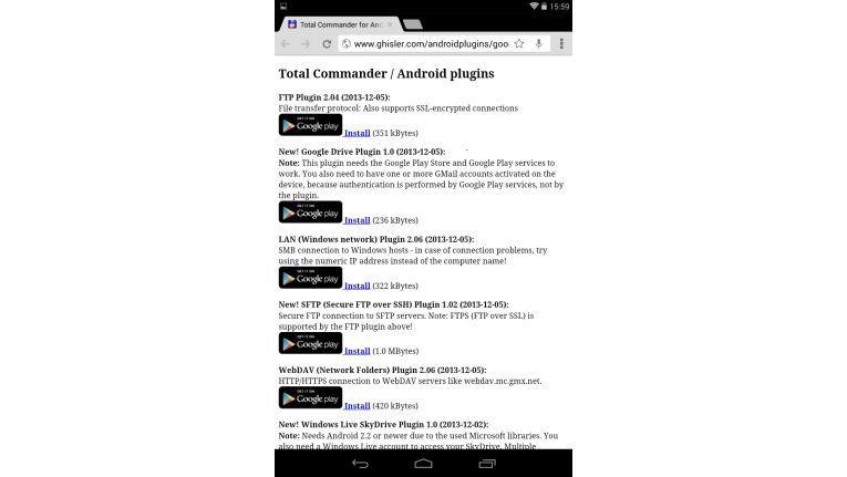 Mittels Plugins kann der Total Commander auch auf die verschiedenen Cloud- und LAN-Freigaben zugreifen.