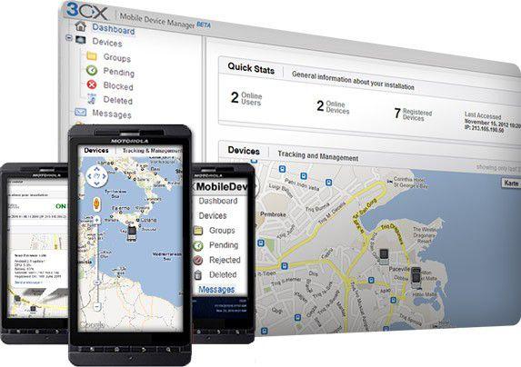 Der Mobile Device Manager von 3CX ist für bis zu fünf Geräte kostenlos.