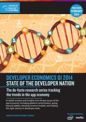 Im Developer Economics Report werden regelmäßig die neuesten Trends der App-Entwicklung erforscht.