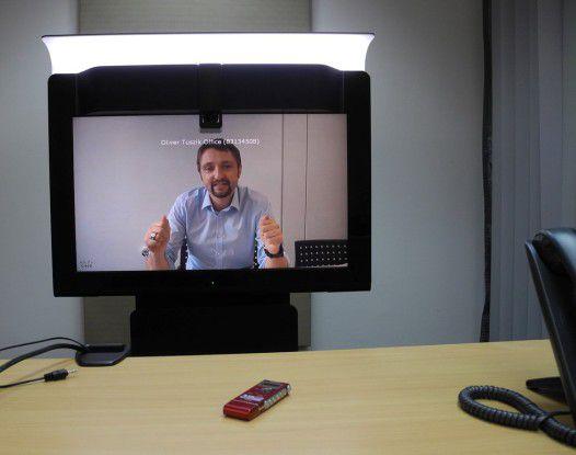 Cisco-Deutschland-Chef Oliver Tuszik diskutiert mit dem Autor über das Thema Telekonferenz - natürlich via Telekonferenz.
