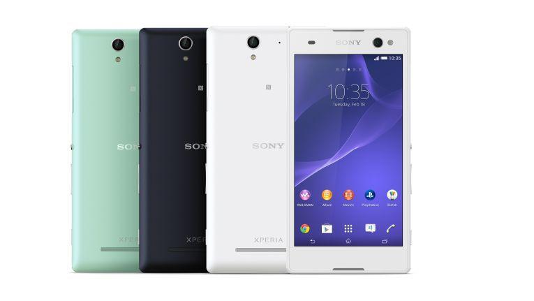 Das Sony Xperia C3 wird in Schwarz, Weiß und Mint erhältlich sein.