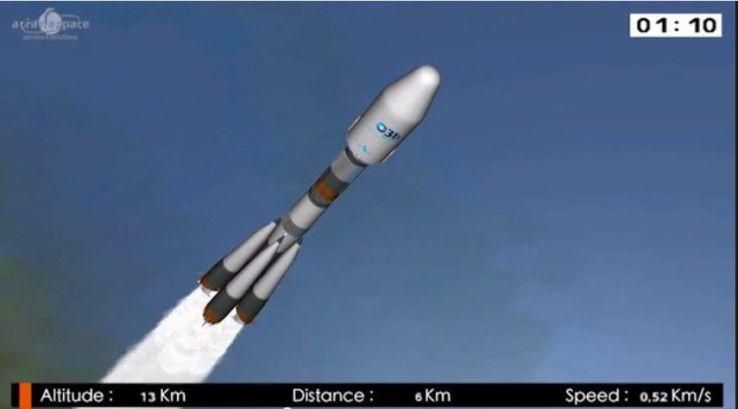 Die Rakete mit dem O3b System
