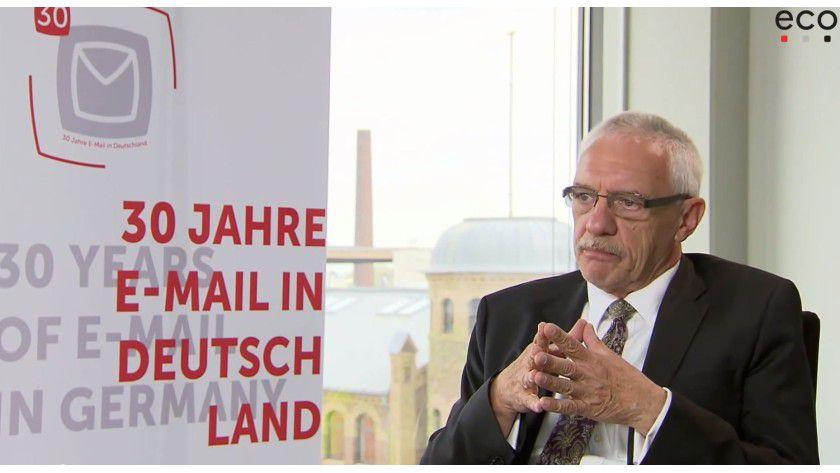 Michael Rotert, heute Vorstandsvorsitzender des eco, erinnert sich an die erste Mail.