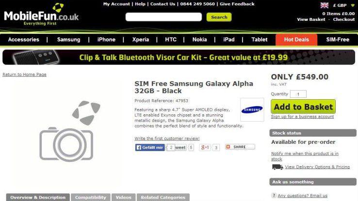 Vorab geleakt: Preis und technische Daten des Samsung Galaxy Alpha