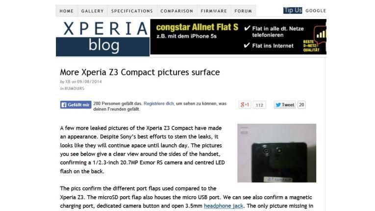 Glaub man der Website Xperia-Blog, dann plant Sony ein weiteres Kompaktmodell.