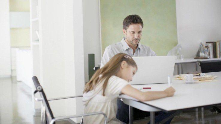 Ohne Disziplin ist es auch im Home Office schwierig, Arbeit und Freizeit in Einklang zu bringen.