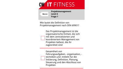 CW-App IT Fitness: Wie fit sind Sie im Projektmanagement?