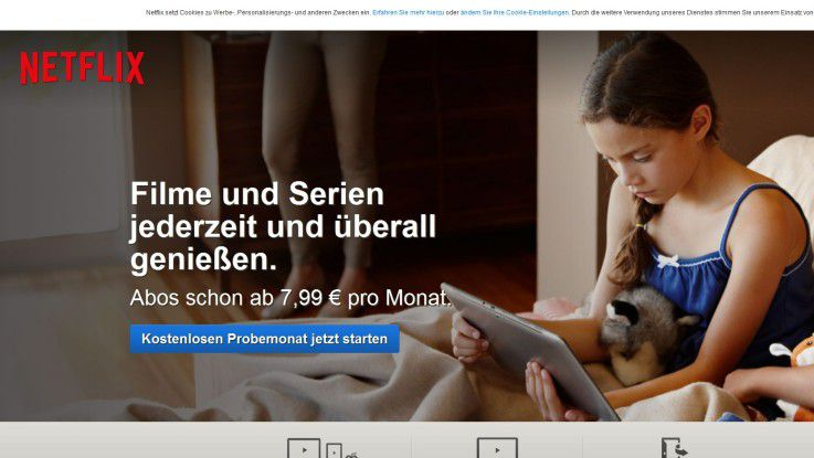 Netflix ist jetzt auch in Deutschland verfügbar.