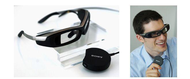 Die Sony Smart Eyeglass mit etwas bewöhnungsbedürftiger Optik.