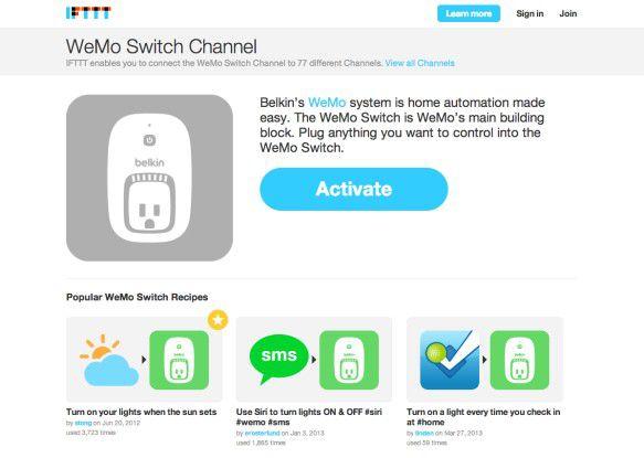 """Per """"If This Then That""""-Dienst (www.ittt.com) können Heimgeräte intelligent automatisiert werden."""