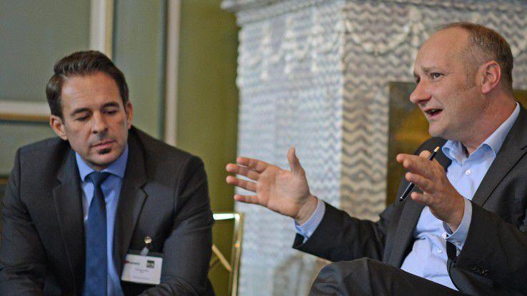 Für und Wider BoyD: Im Workshop zum Thema diskutierten unter anderem Andreas Seifert von IBM (links) und Andreas Stiehler, PAC.