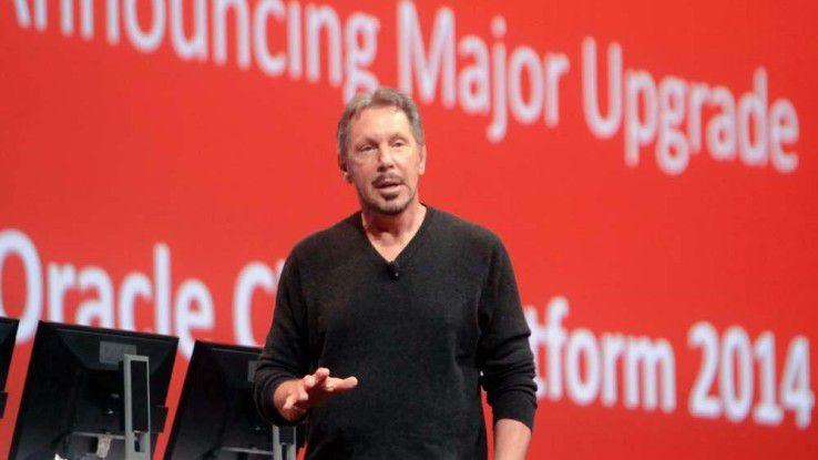 """Larry Ellisons auf Oracle OpenWorld 2014: """"Wir haben das größte SaaS-Angebot und adressieren damit so viele Branchen, wie kein anderer Anbieter."""""""
