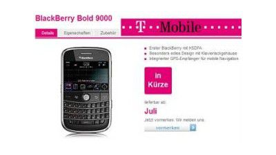 BlackBerry Bold: RIMs neues Topmodell ab sofort bei T-Mobile