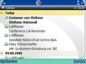 Der Nokia Email Service eignet sich für fast alle Mail-Accounts.
