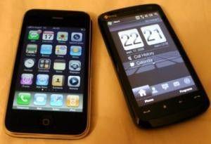 Original (Apple iPhone) und Nacheiferer: Das HTC Touch HD