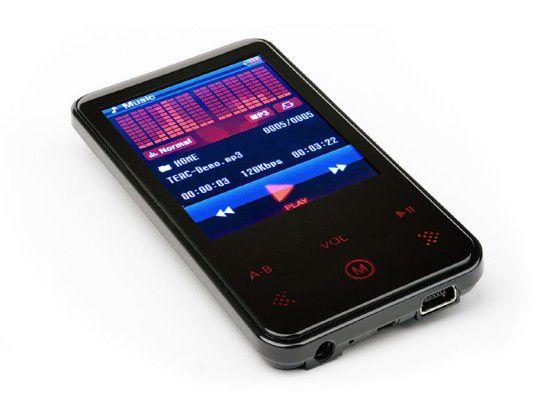 Flach, schwarz und günstig: Teac MP-550 (2 GB)