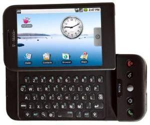 Auf Wunsch von Apple blockiert: T-Mobile G1 hat Multitouch wie das iPhone.