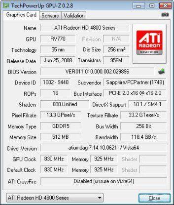 Grafikkarte: ATI Radeon HD4870