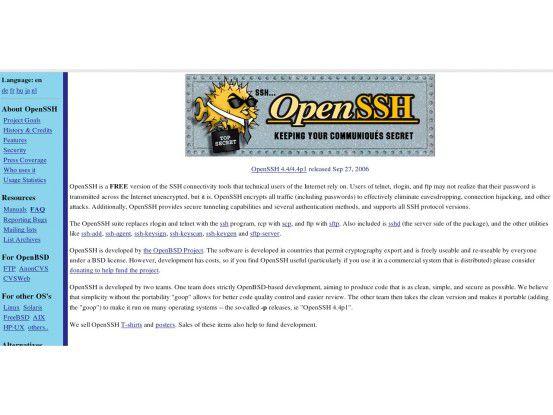 Erste Anlaufstelle: Das Open-SSHProjekt