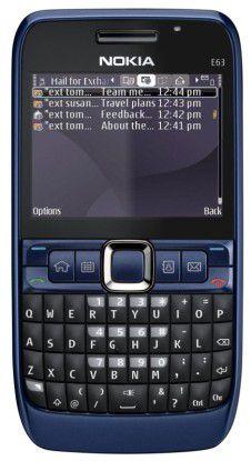 Mit dem Nokia E63 sind E-Mails schnell getippt.