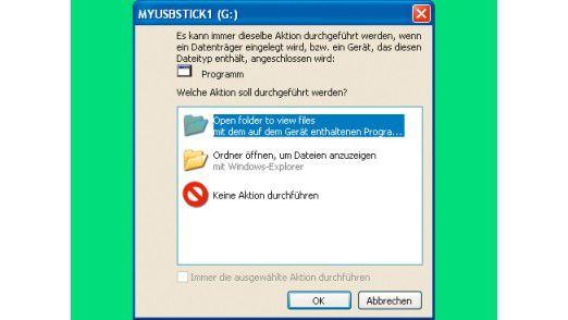 Conficker auf dem Stick: Windows-Autorun bietet an, den Schädling zu starten.