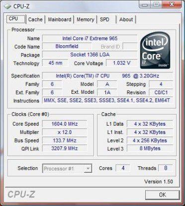 Für Leistung sorgt Intels Core i7 Extreme 965.