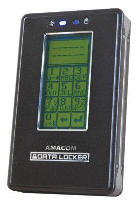 Data Locker: Die externe Platte lässt sich mit einem Zahlencode sichern