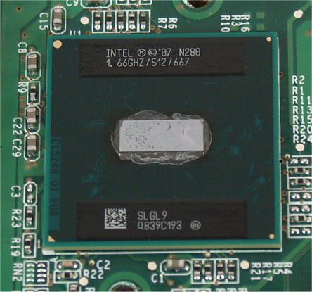 Im Veriton N260G verbaut Acer die Intel-CPU Atom N280