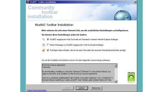 In einer inoffiziellen StudiVZ-Toolbar hatten Kriminelle Malware versteckt
