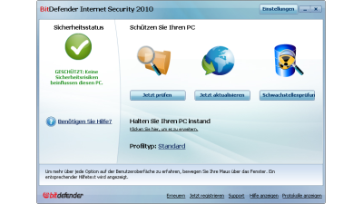 Getestet: Bitdefender Internet Security 2010