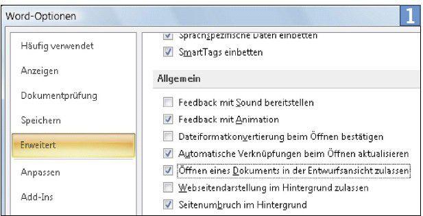 Schalten Sie in Microsofts Word die Entwurfsansicht ein