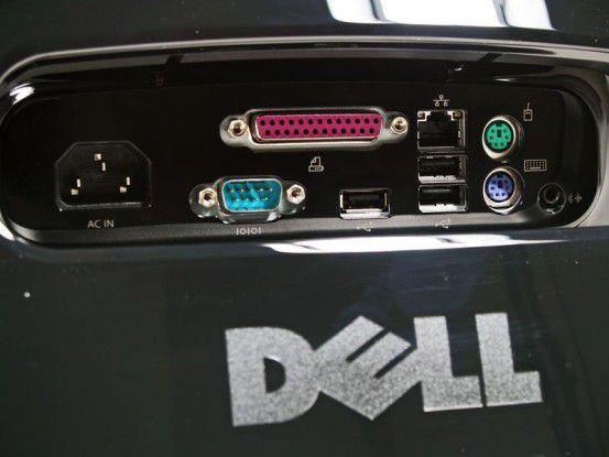 Dell Inspiron One 19 Touch: Schnittstellen auf der Rückseite
