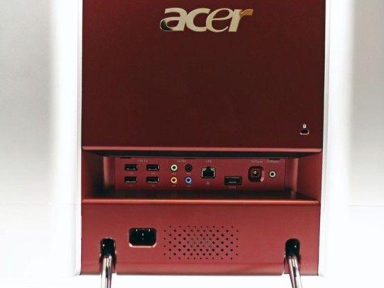Rückseite des Acer Aspire Z5610