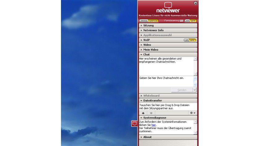 Online-Konferenz: Netviewer 6 im Einsatz. (Quelle: Netviewer)