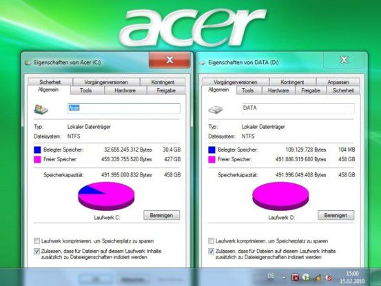 Terabyte-Festplatte im Acer Aspire Z5610