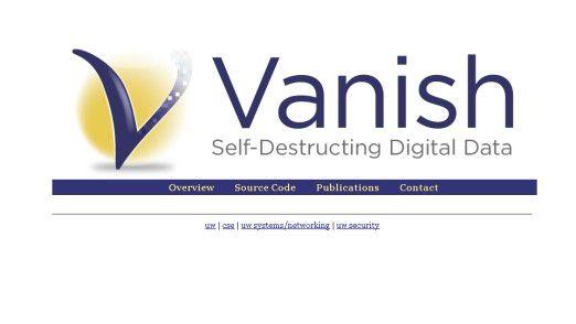 """Die """"Selbstzerstörungssoftware"""" Vanish"""