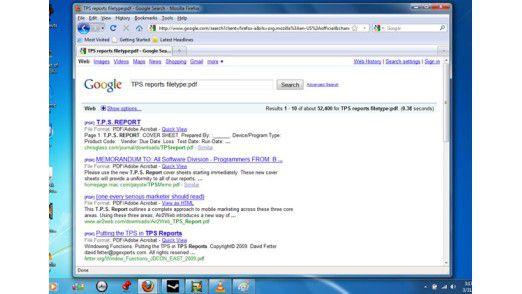 Suchergebnisse eingrenzen