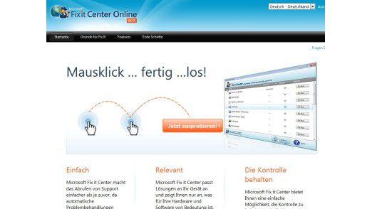 Microsoft Fix It Center.