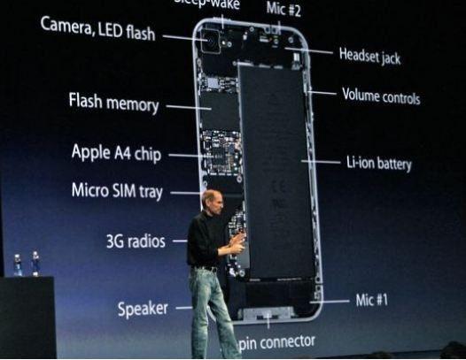 Steve Jobs bei der Vorstellung des iPhone 4