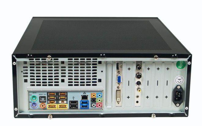 Anschlussvielfalt auf der Rückseite des Silentmaxx HTPC Fanless AMD