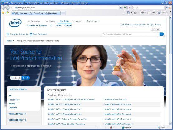 Intels Prozessor-Datenbank
