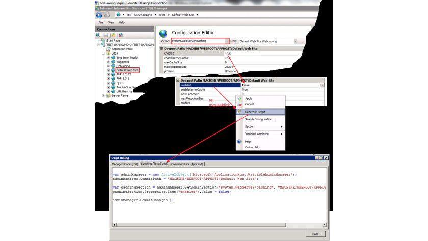 Mit den gezeigten Schritten wird das Caching einer Webseite abgeschaltet. (Quelle: Microsoft TechNet)