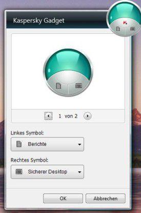 Präsent: Kasperskys Mini-Anwendung für Windows Vista und Windows 7.