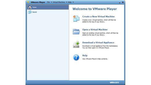 Kostenlose Virtualisierungslösung: Mit dem VMware Player lassen sich bestehende virtuelle Maschinen importieren oder neue anlegen.