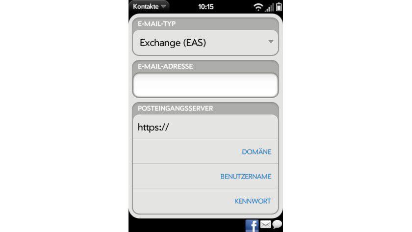 Hotmail per Exchange: Auch Nicht-Microsoft-Geräte, hier etwa der Palm Pre, können die Funktion nutzen.